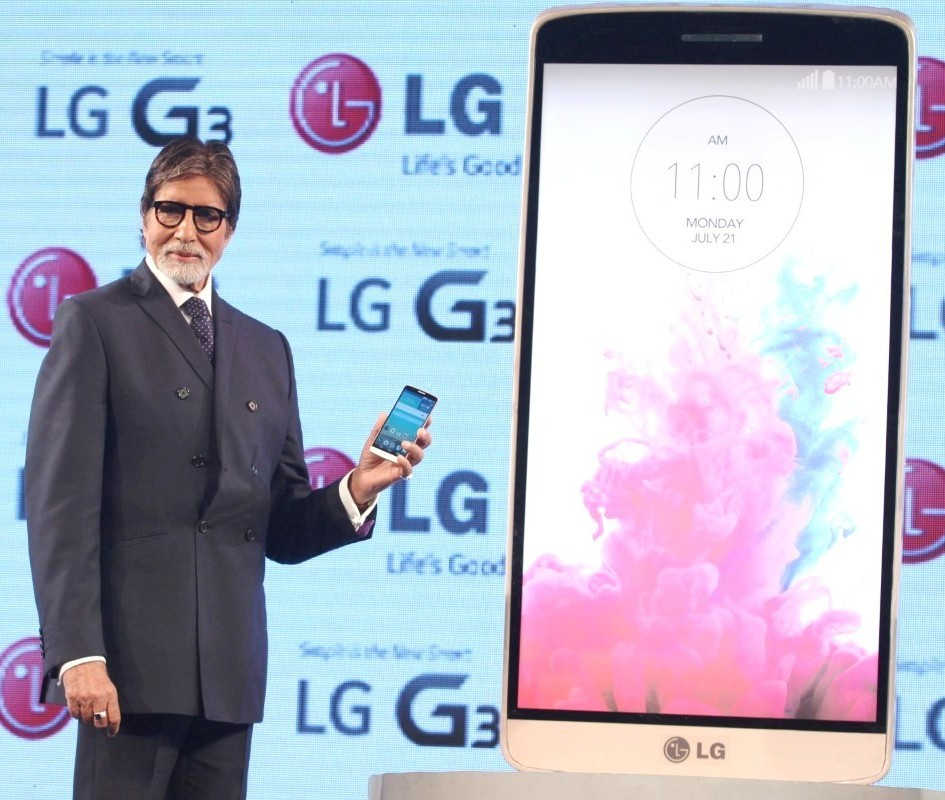 Amitabh Bachchan Launches LG G3 Cell Phone