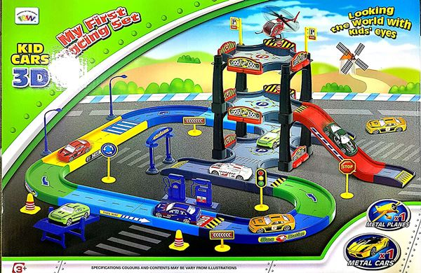 Curtis Toys 57 Pieces Race Track Set with Metal Plane and Car