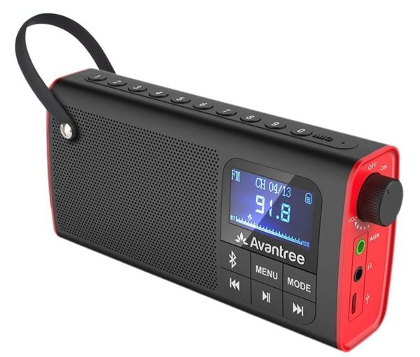 Avantree Portable FM Radio with Easy to Use Features